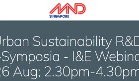 Urban Sustainability R&D e-Symposia I&E Webinar - Leveraging Technology Innovation & Enterprise To Enhance Built Environment Productivity